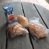 モンブルー - 料理写真:購入したパンをテラス席で頂きます