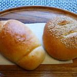 笹山 - 塩バターパンといただいたごぼうサラダ