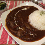 CIMOLO CAFE - ハヤシライス+ミニサラダ