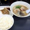 博多一番 - 料理写真:ラーメンセット850円「博多ラーメン+小ライス+一口餃子4個」(2015.08)