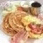 グリックグリル - 自家製パンケーキBLE (スープ&ドリンクバー付)680円(税込734円)
