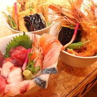テレビにも取材された大漁海鮮丼