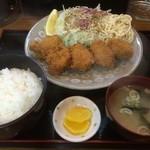 きた乃家 - カキフライ定食
