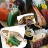 うまいもん処 匙 - 料理写真:イボダイ煮付、出汁巻き玉子、鯖燻製、炊合せ、刺身、茄子の味噌焼き、茶碗蒸し