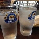 41001785 - お水もキリンのコップ入り(・∀・)