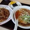 大十食堂 - 料理写真:Aセット ミニ中華、ミニ焼きそば、おにぎり、たくあんのセット