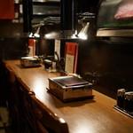 ヒレ肉の宝山 - カウンター席