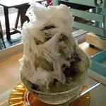 何時も庵 - 日光天然氷 抹茶あずきと寒天 食べ終わる頃に、とろりの寒天が楽しみ