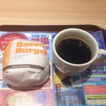 ファーストキッチン - 料理写真:朝のベーコンエッグバーガードリンクセット420円 2015.8