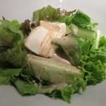 牡蠣屋うらら - 胡瓜と豆腐のサラダ_2015/08