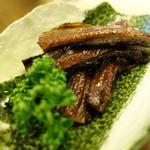 天竜 - 料理写真:山椒にしん(焼いています)