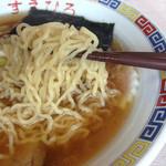 米沢ラーメン すえひろ - 麺は米沢の岸製麺です