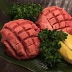 焼肉ハウス バリバリ - ダイス上の牛タン・・・じゅんじゅわー