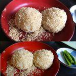 佐久の草笛 - くるみおはぎは3個1人前だが、バラ注文した。佐久の草笛(長野県佐久市)食彩品館.jp撮影