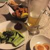 新宿かっぱ - 料理写真:ビール190円。お通しの味玉が美味い