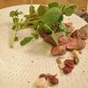 ノエル - 料理写真:神戸クイジーンビーフのもも肉ロースト、善光寺門前三原屋醤油ベースのトリュフソース、松代産クレソン。