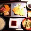 美味いものづくし 古今東西 - 料理写真:刺身ときすフライ 定食