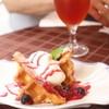 ニナス・パリ - 料理写真:食事のあとのデザートセットのワッフル
