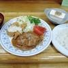 キッチン長崎 - 料理写真:ハンバーグと魚のフライランチ800円