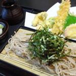佐久の草笛 - 海老天ざる蕎麦(並)