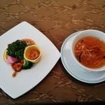 グランドプリンスホテル京都 中国料理 桃園 - 『前菜の盛り合わせ』と『フカヒレスープ』~♪(^o^)丿