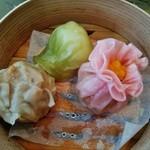 グランドプリンスホテル京都 中国料理 桃園 - 焼売など 蒸し物3種の盛り合わせ~♪(^o^)丿