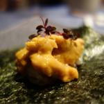 朱藏 - ■北海道産 雲丹のおこげ手巻き