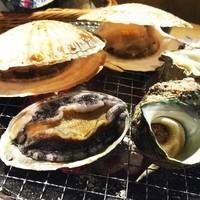 【大人気!浜焼き】海鮮三種盛り