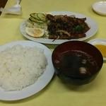 民華 - レバ焼き定食