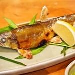 本等鮨 海馬 - 天然あゆ塩焼き