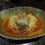 中華そば くにまつ - 汁なし坦々麺(辛さ×2) 580円(カレー味)