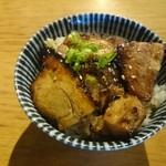 めん創 桜花 - 2015年8月  特製つけそば 炙りチャーシュー丼セット 1240円