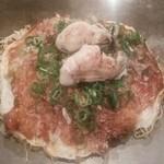 櫓家 - そば肉玉 イカ天 牡蠣2個 トッピング
