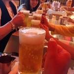 シンカレー - ビール100円の看板に釣られ…(T ^ T)