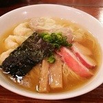 支那そば 八雲 - 白だし特製ワンタン麺(1000円)