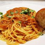 41349261 - ワタリガニのトマトクリームスパゲティ