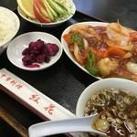 紅花 - 酢豚定食 850円