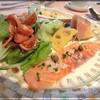 Arene - 料理写真:オードブル  野菜・スモークサーモン・生ハムメロン・蟹・スクランブルエッグ