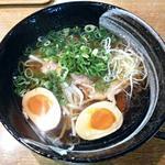 創作麺屋 よふく堂  - 【塩ねぎらーめん + 味付け玉子】¥710 + ¥120