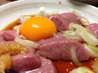朝起 - 豚のキンタマ刺身