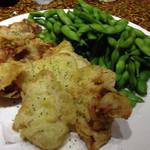 魚のあんよ - 枝豆と豚肉天ぷら