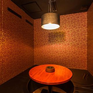 暖かさを感じる和の趣の個室。ゆったりまったり過ごせます