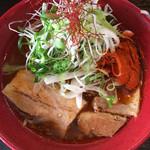 辛味噌煮干らーめん・つけめん 六 - 辛味噌煮干し葱らーめん780円