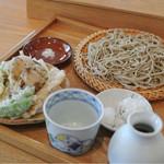 まん作 - 季節の野菜天せいろ ¥1400