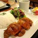 CIMOLO CAFE - 夜カフェプレート 1500円(チキンソテー)