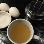 コクドウカレー - スープとゆで卵がサービスです♪