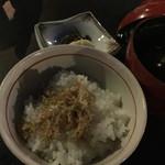 先斗町 魯ビン - 食事…ジャコご飯&味噌汁