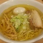 麺堂稲葉クキスタイル - アッサリ鶏塩ラーメン味玉‼