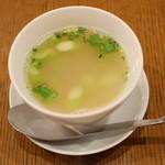 ベジー - アスパラと蟹のスープ