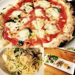 パッソ ア ルナ - 友達とランチにいきました。マルゲリータとパスタを頼み2人で半分ずつ食べました⌣̈⃝ 前菜もおいしくパスタは大盛りにしたけど、完食\(^^)/笑 他のピザとかデザートも食べたいと思いました(♡´艸`)
